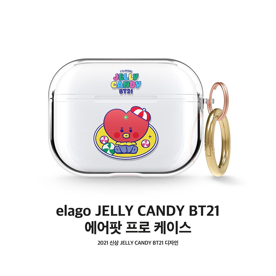 엘라고(ELAGO) BT21 에어팟프로 클리어 케이스 (8타입)